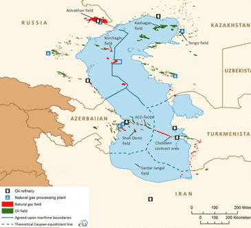 Caspian-Map