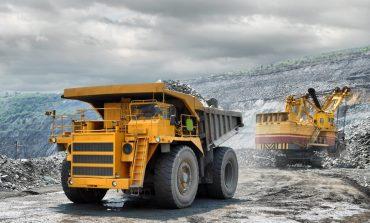 loading of iron ore truck
