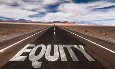 Equity written on desert road