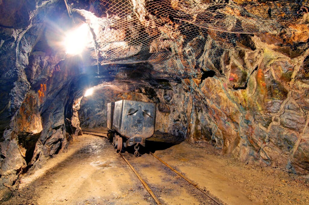 Gold Mine with mine cart