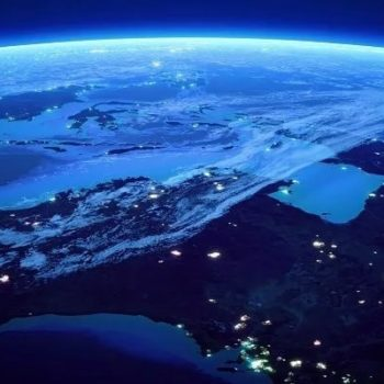 Australia with city lights from space at night - Earth daytime series