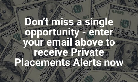 Sign up for private placements alerts